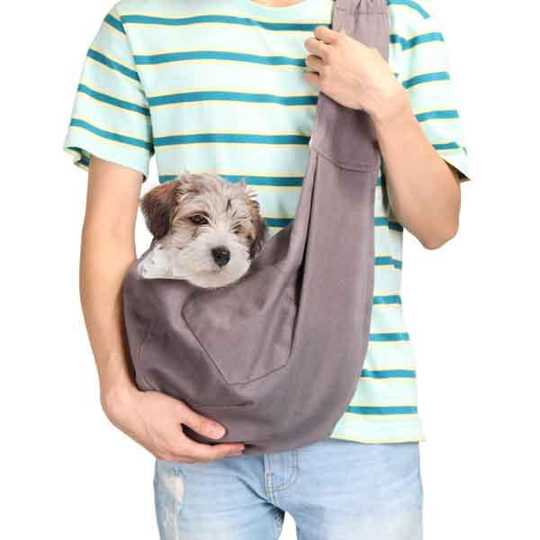 Sac de transport en bandoulière chien