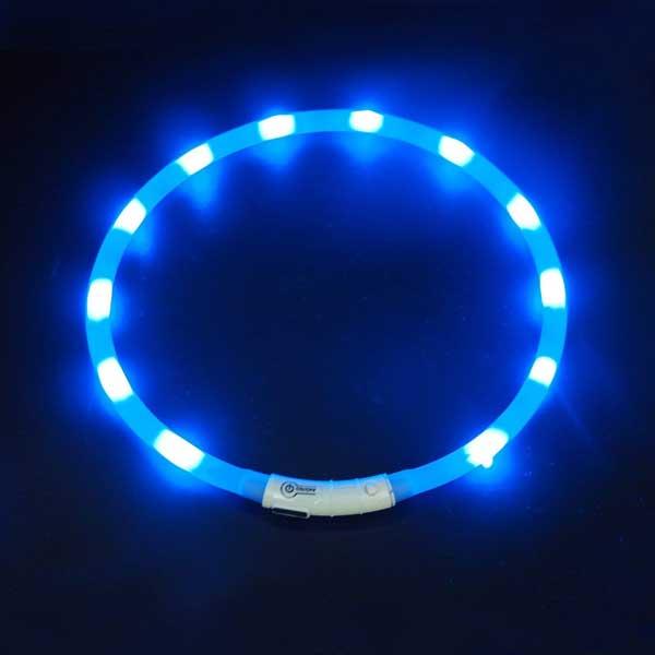Collier LED clignotant pour chien