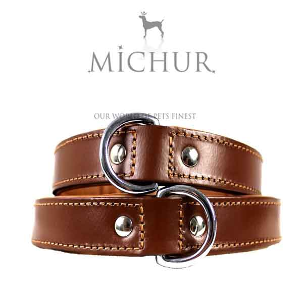 Collier en cuir marron Michur