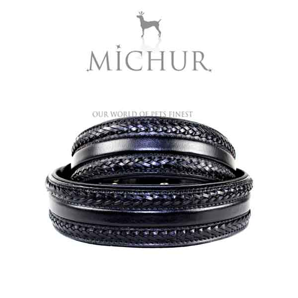 Collier Michur en cuir noir