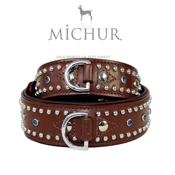 Collier Michur cuir marron
