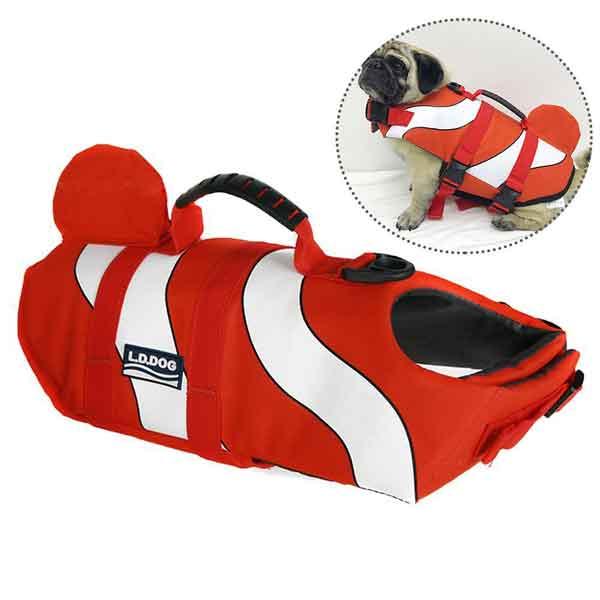 Gilet de sauvetage chien avec aileron