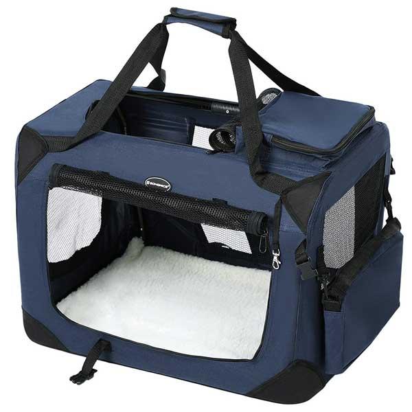 caisse de transport pliable pour chien