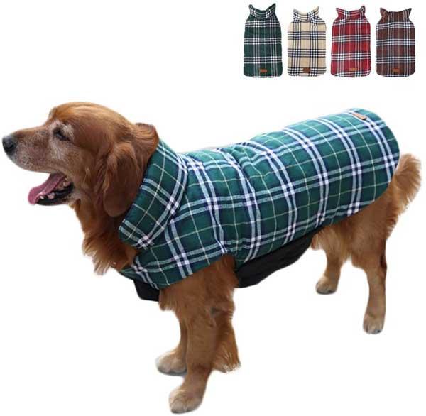 Manteau réversible motifs écossais