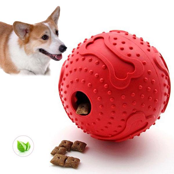 Balle distributeur de croquettes chien