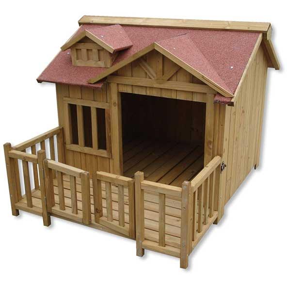Niche en bois avec terrasse