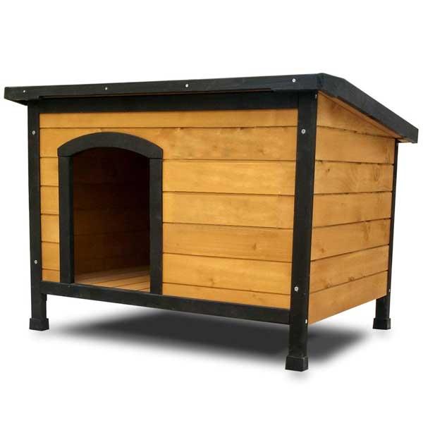 Niche en bois de pin avec toit ouvrant