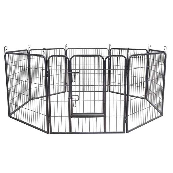 Parc enclos pour chiens en métal